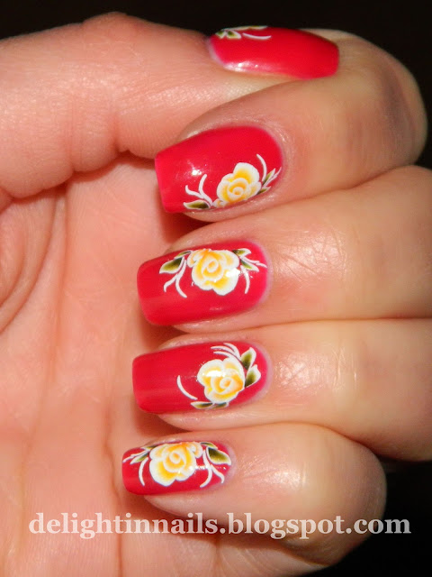 Born Pretty Store Rose Decals