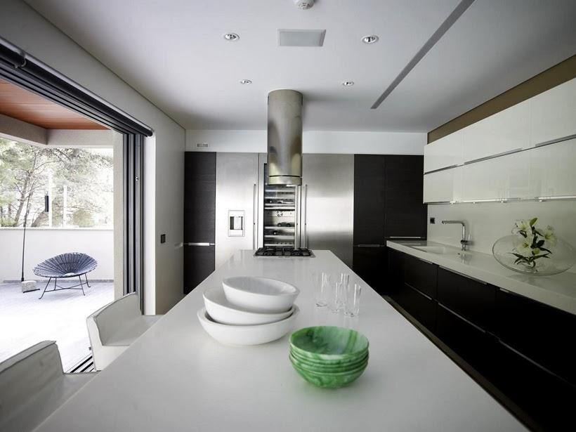 Kitchen in Modern Mansion in Dionysos