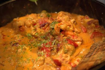 Карри с овощами, курицей сметаной брокколи рецепт