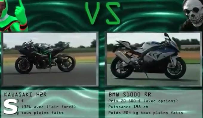 Adu Drag Kawasaki H2R Vs BMW S1000RR