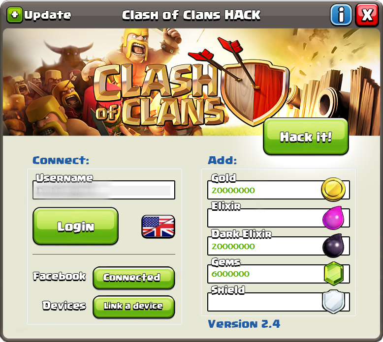 clash of clans gems hack