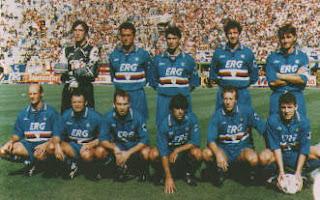 ... do Sampdoria dos anos 90