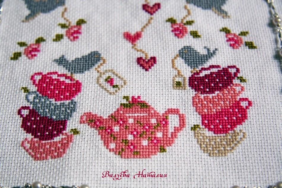 чайник, чашки, птицы, шебби шик