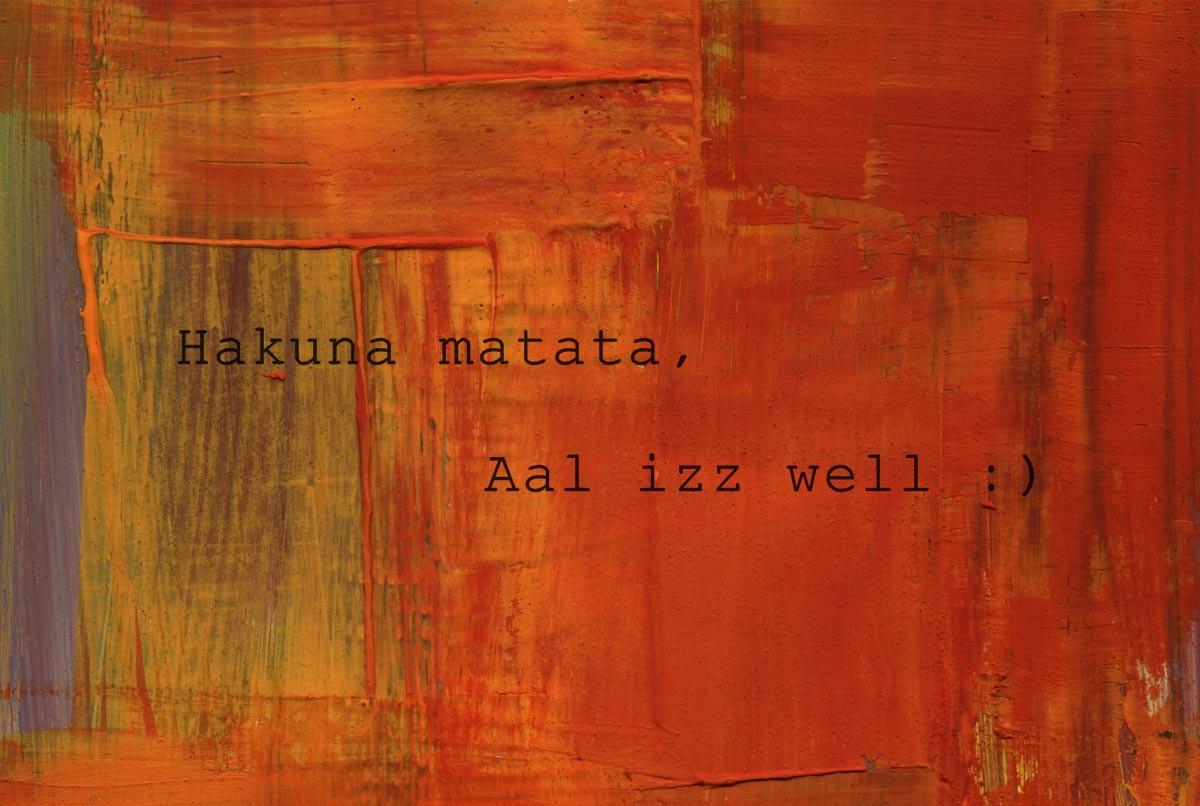 aal izz well Amazon musicでanu malikのaal izz well をチェック。amazoncojpにて ストリーミング、cd、またはダウンロードでお楽しみください.