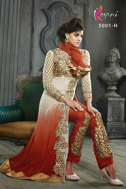 Indian Long Frocks Designs 2015