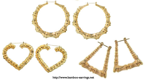 Bamboo Earrings Gold3