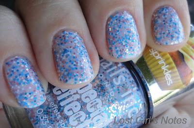 nails inc. sweets way sprinkles swatches and review
