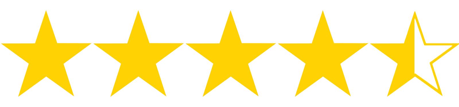Resultado de imagen para four and a half stars