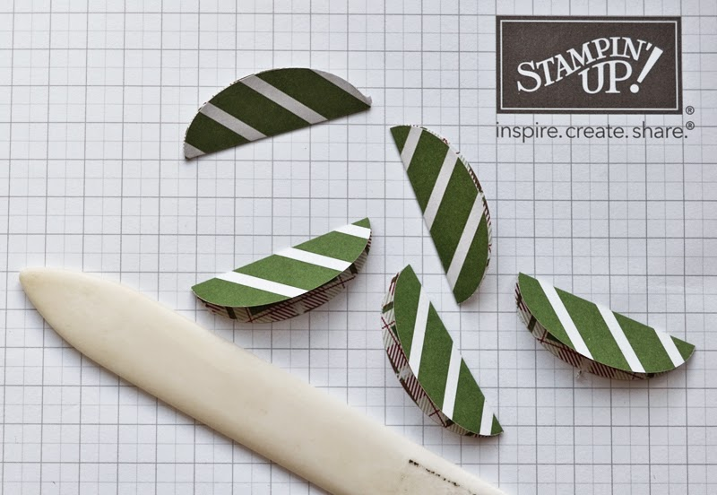 Making crisp creases with a Stampin' Up bone folder