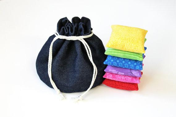 https://www.etsy.com/listing/124997123/denim-black-flannel-bucket-bag-with