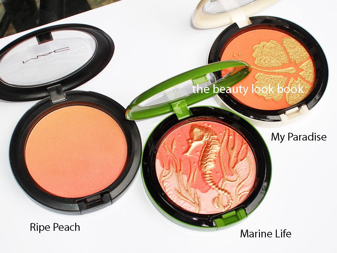 Souvent MAC Peachy Love: Ripe Peach, Marine Life & My Paradise | The  PZ16
