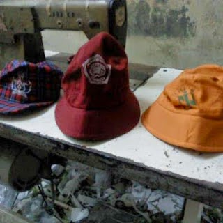 topi sekolah sablon bordir