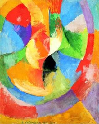 Childrens Art Collage Project Inspired By Robert Delaunay Focusing On Circles Primary And Secondary Colors