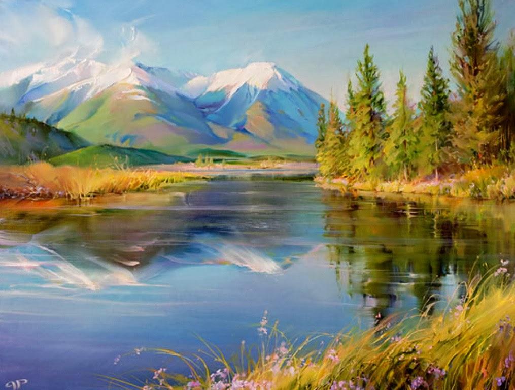 Картины деревенский пейзаж Сельский пейзаж