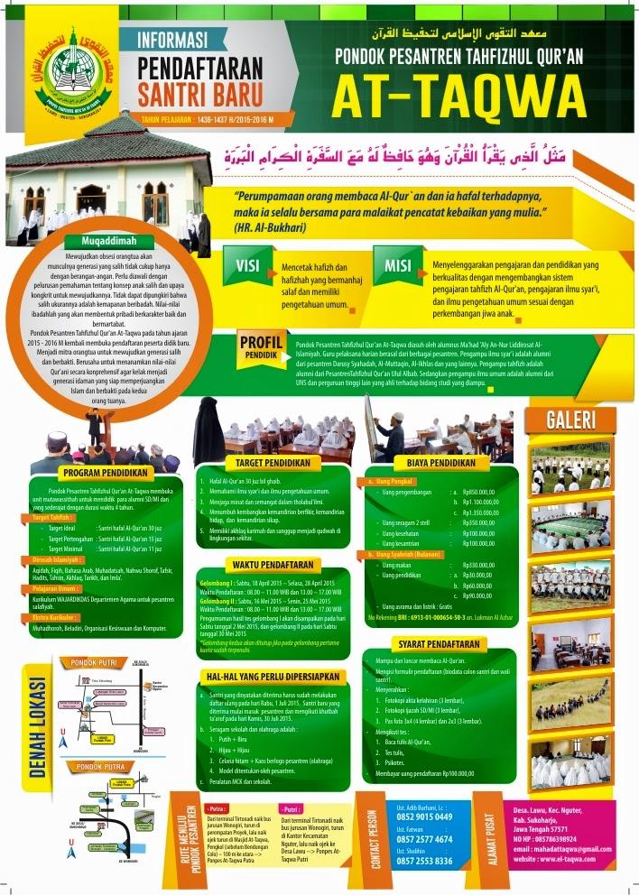 Pondok Pesantren Tahfizul Quran At-Taqwa Nguter