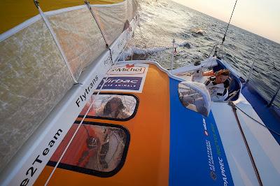 Pour le Team StMichel Virbac, IMOCA neuf mis à l'eau le mois dernier, le planning est chargé !