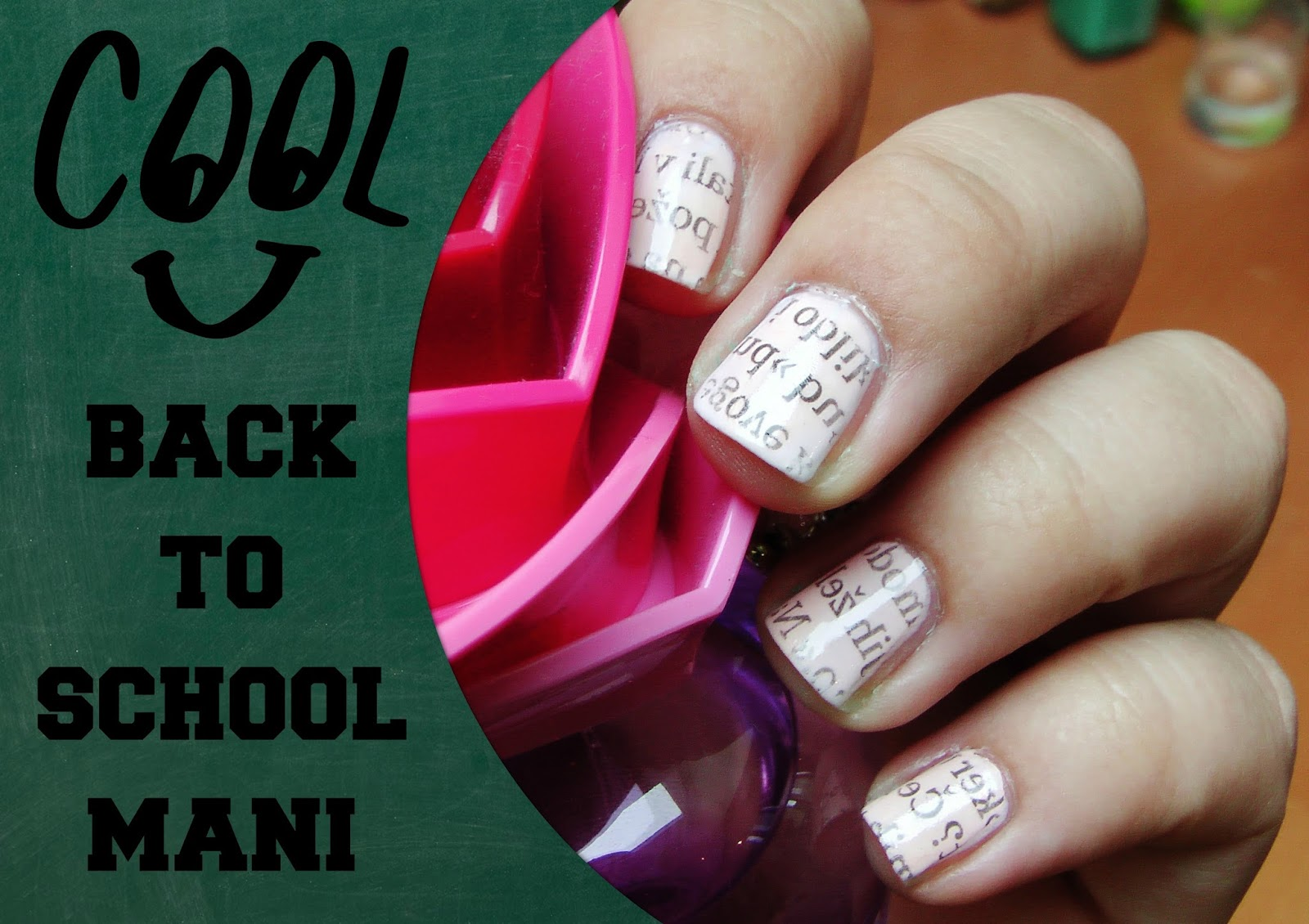 Back to School Mani: Newspaper Nails Tutorial - The Puzzle of ...