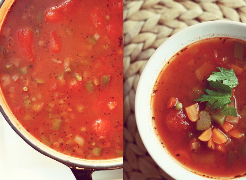 soupe minestrone rapide