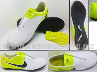Sepatu Futsal Nike T90 Laser White-Yellow
