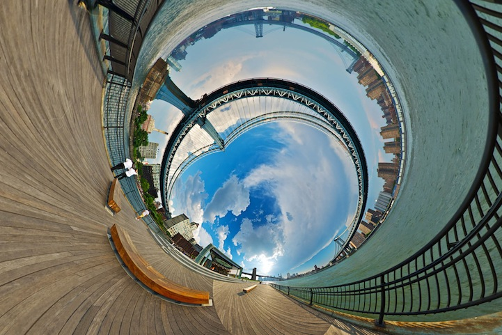 Paisajes distorsionados mundo surrealistas