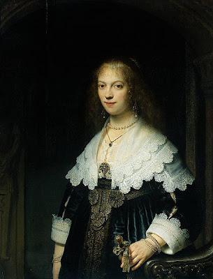 Rembrandt - Portrait de femme, peut-être Maria Trip