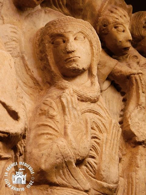 CABESTANY (66) - Tympan roman de l'église Notre-Dame des Anges