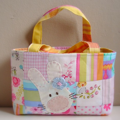 Easter patchwork bag