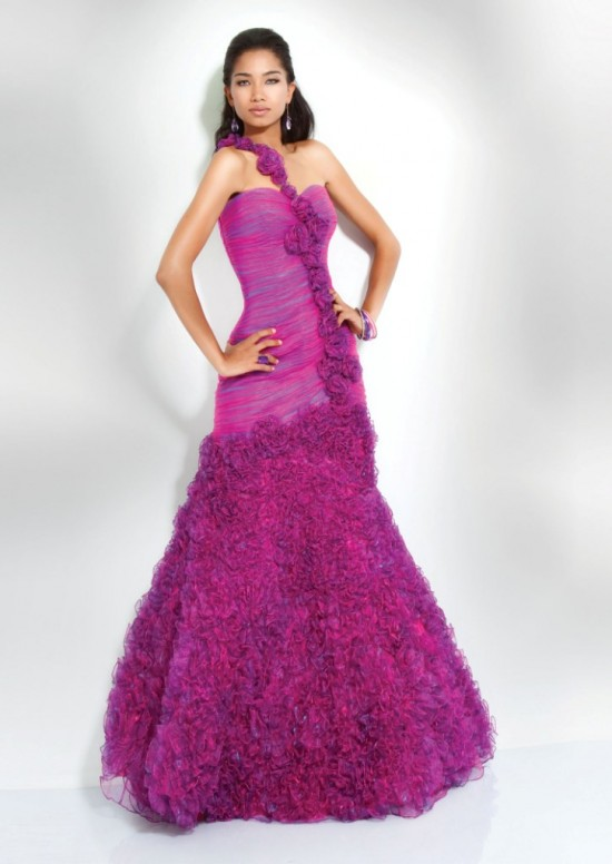 Girlish Beautiful Prom Dresses Designs 2011