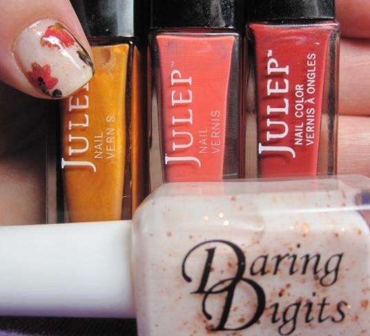 daring digits floral nail art