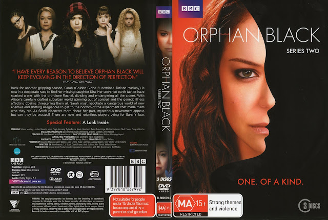 Capa DVD Orphan Black Series Two