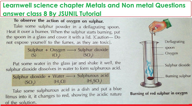Learnwell science chapter Metals and Non metal Questions ...