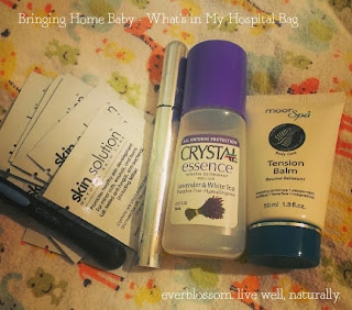 Packing the hospital bag - natural products + essentials
