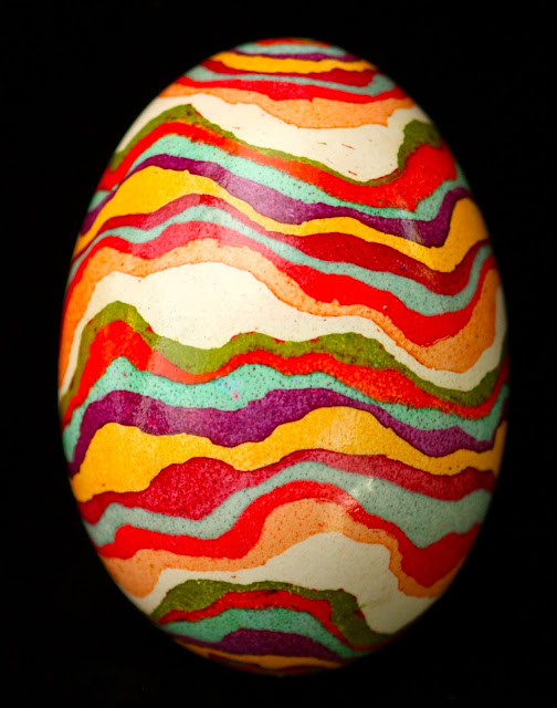 Contemporary Batiked Eggshell