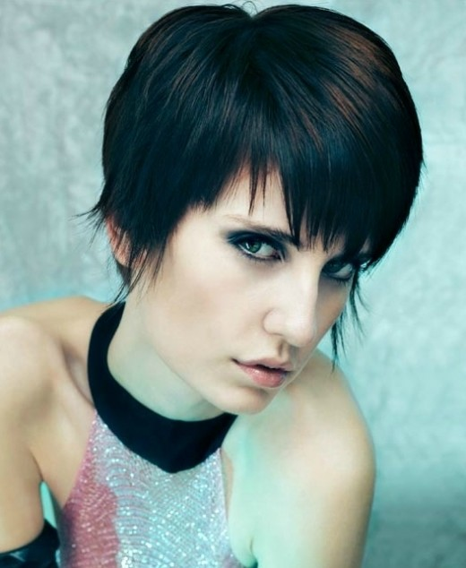 layered hair cut bobs and bangs among many options for short hair