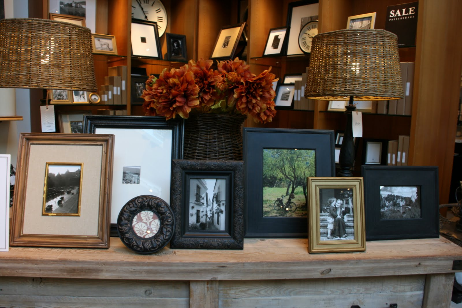 I Noticed That The Photo Display At Our Flagship Pottery Barn Store  Yesterday Had All The Frames Lined Up, Facing Straight.