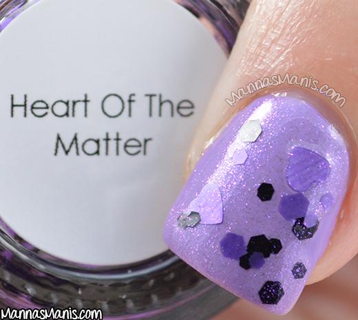 Quaint Paints Lacquer Heart of the Matter macro swatch