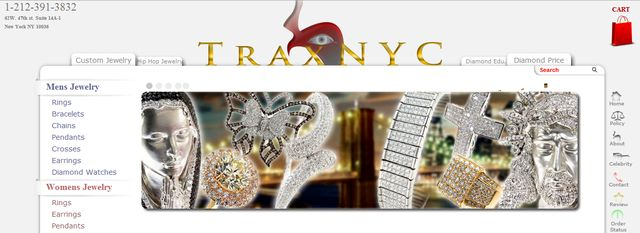 Mens Diamond Crosses at Traxnyc.com