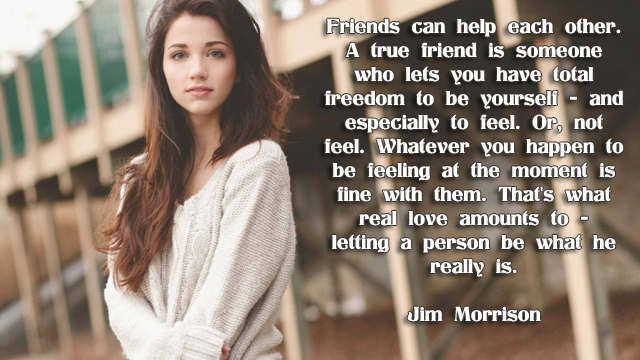 facebook Poste image quotes (Friends can help each other. A true friend is ...)