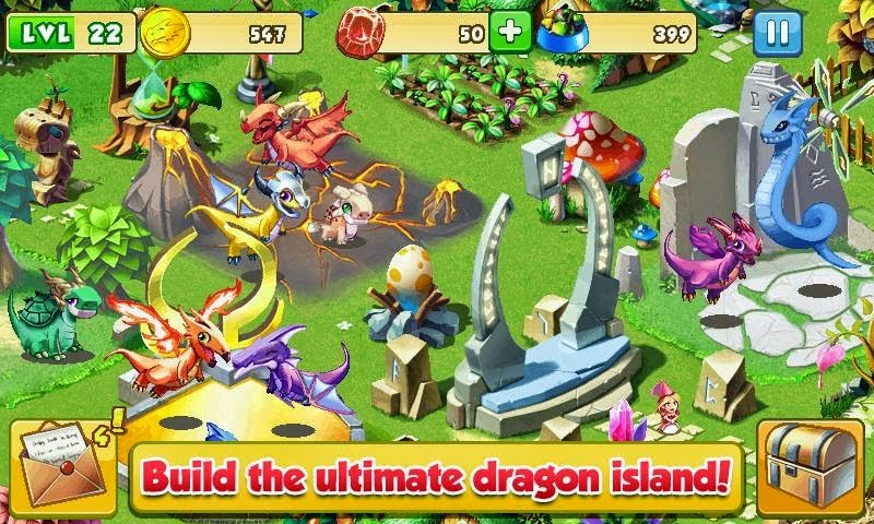 Game Dragon Mania V4.0.0 Mod Apk screenshot