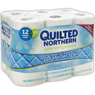 Quilted Northern Ultra Plush Bath Tissue 3-ply White, count 2 Layers of Softness and 3rd Layer for Added Absorbency Sheets Per Roll 30 Rolls Per Pack.