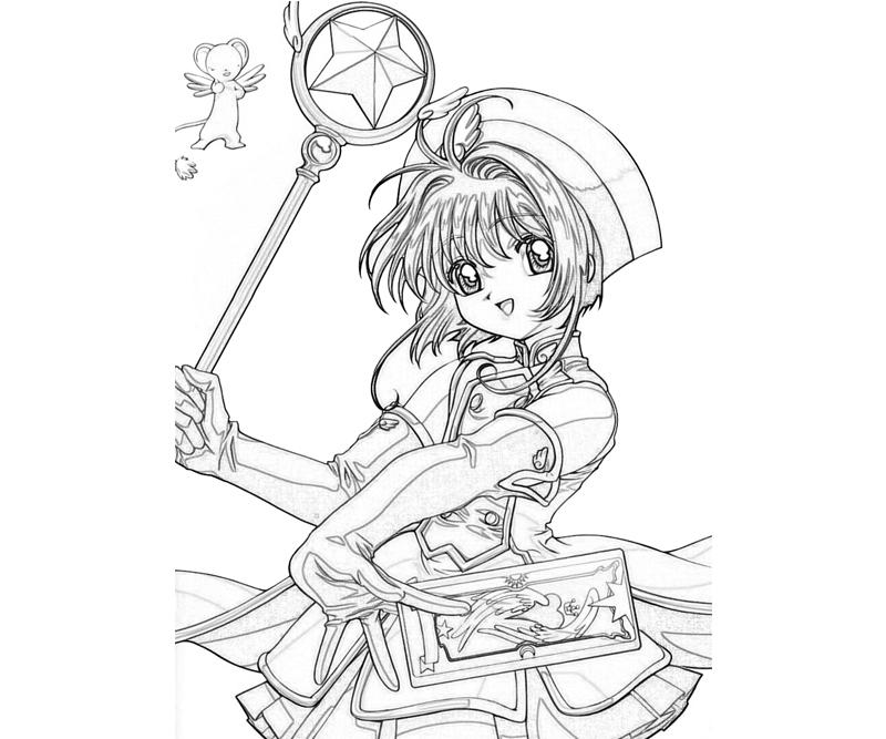 printable cardcaptor sakura sakura kinomoto profil_coloring pages - Cardcaptor Sakura Coloring Pages