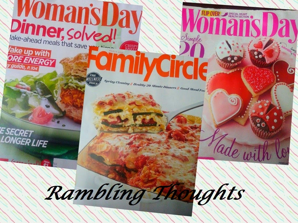 Rambling Thoughts' free mail of Woman's Day and Family Circle Magazines