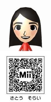 佐藤天彩(NMB48)のMii QRコード トモダチコレクション新生活