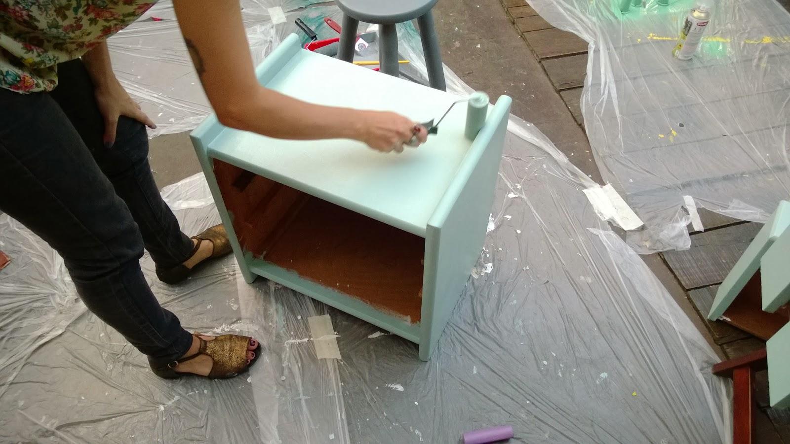 pinte o móvel - oficina Mão na Massa - blog Casa de Colorir