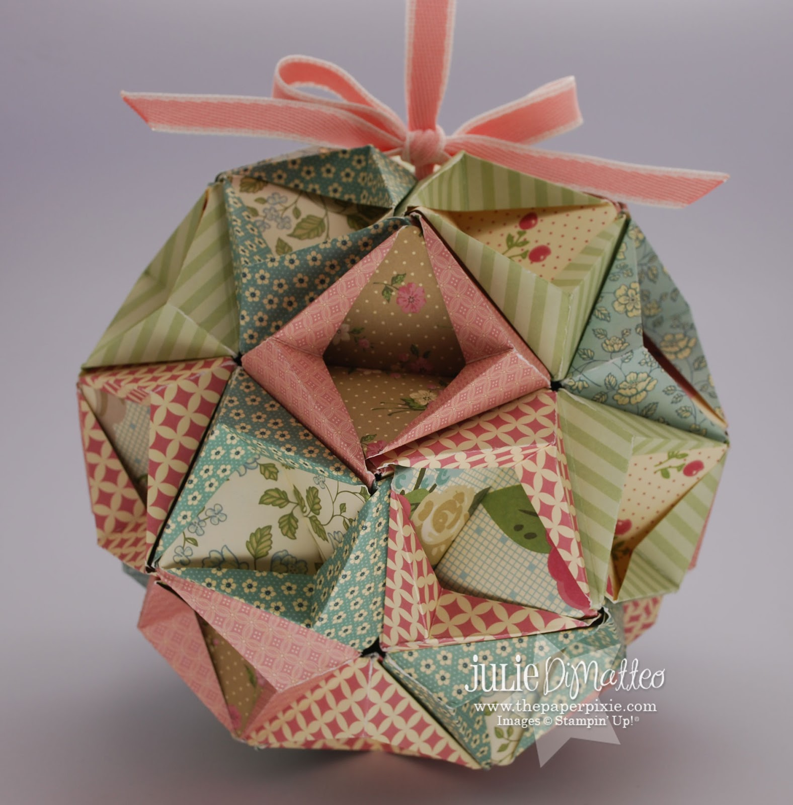 Picture Of Diy Origami Ornaments: The Paper Pixie: DSP Kusudama Ball
