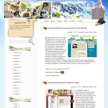 Stop at Chile Blogger Template. free download template blogspot