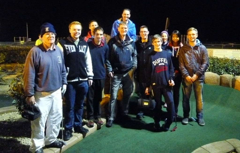 The Midlands Minigolf Club line-up ahead of the 2014 BMGA British Club Championships in Hastings