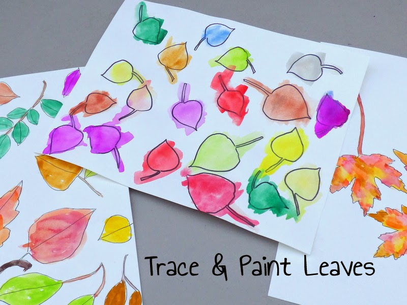 leaf crafts for kids, watercolor crafts for kids, nature crafts for kids