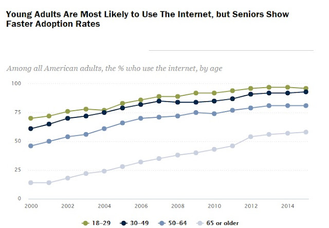 """ growth of seniors in web usage"""