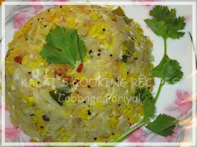Cabbage / Muttai Kosu Poriyal